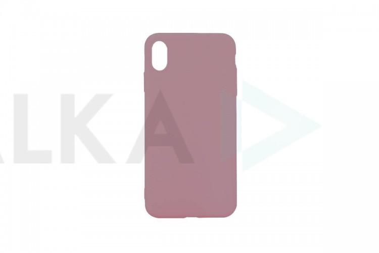 Силиконовая накладка iPhone XR плотная матовая (серия Colors) лососевый