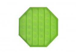 Силиконовая антистресс игрушка POPIT 8 граней (неон, светится в темноте)