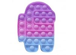 Силиконовая антистресс игрушка POPIT Амонг Ас (одноцветный, цвета в ассортименте)