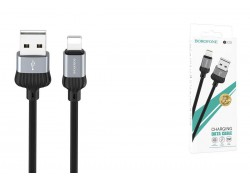 Кабель для iPhone BOROFONE BX28 Dignity charging data cable for Lightning 1м серый