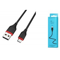 Кабель USB micro USB BOROFONE BX17 Enjoy charging cable (черный) 1 метр