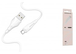 Кабель USB micro USB BOROFONE BX18 Optimal charging data cable (белый) 1 метр