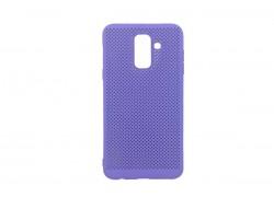 Силиконовая накладка Samsung A6 Plus (2018) фиолетовый с перфорацией