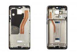 Средняя часть для Xiaomi Redmi Note 8 Pro (рамка дисплея) черный, с разбора