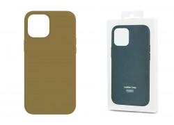 Чехол для iPhone 12 (5.4) Leather Case коричневый