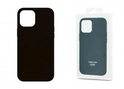 Чехол для iPhone 12 (5.4) Leather Case черный