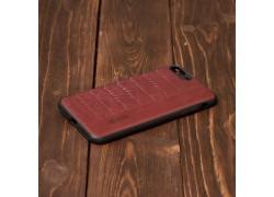 Кожаная накладка Iphone 7 Plus / 8 Plus (5.5) с плетением бордовая