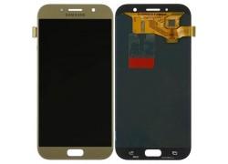 Дисплей для Samsung A720F Galaxy A7 (2017) в сборе с тачскрином (золото), OLED