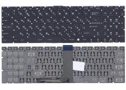 Клавиатура для ноутбука MSI GT72 черная под белую подсветку
