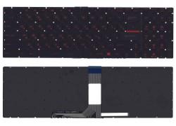 Клавиатура для ноутбука MSI GT72 черная под красную подсветку