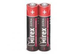 Батарея солевая Mirex R03 / AAA 1,5V  цена за 2 шт (2/60/2400), shrink (23702-ER03-S2)