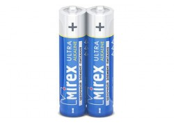 Батарея щелочная Mirex LR03 / AAA 1,5V  цена за 2 шт (2/40/1000), shrink (23702-LR03-S2)
