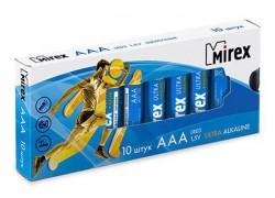 Батарея щелочная Mirex LR03 / AAA 1,5V  цена за 10 шт (10/960), multipack (23702-LR03-M10)