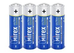 Батарея щелочная Mirex LR6 / AA 1,5V  цена за 4 шт (4/40/720), shrink (23702-LR6-S4)