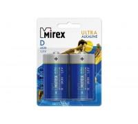 Батарея щелочная Mirex LR20 / D 1,5V  цена за 2 шт (2/12/96), блистер (23702-LR20-E2)