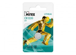 Батарейка литиевая Mirex CR1220 3V цена за 1 шт ecopack (23702-CR1220-E1)
