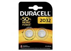 Батарейка литиевая Duracell DL2032 BL2 цена за блистер 2 шт