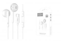 Гарнитура HOCO L10 Acoustic  Type-C цвет белая