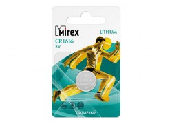 Батарейка литиевая Mirex CR1616 3V цена за 1 шт  ecopack (23702-CR1616-E1)
