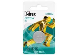 Батарейка литиевая Mirex CR2016 3V цена за 1 шт ecopack (23702-CR2016-E1)
