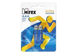 Батарея щелочная Mirex LR03 / AAA 1,5V  цена за 2 шт (2/24/480), блистер (23702-LR03-E2)