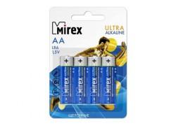 Батарея щелочная Mirex LR6 / AA 1,5V  цена за 4 шт (4/48/480), блистер (23702-LR6-E4)