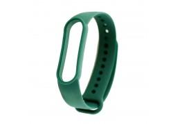 Ремешок силиконовый для XIAOMI MI Band 3/MI Band 4 цвет темно-зеленый