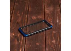 Пластиковая накладка iPhone X IPaky прозрачная с синим бампером