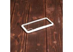 Пластиковая накладка iPhone X прозрачная с белым бампером