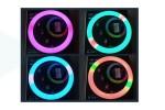 Кольцевая лампа RGB многоцветная (26 см) YC260R для фото и видеосъемки черная (без треноги)