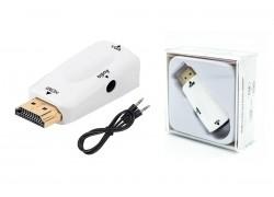 Конвертер HDMI (M) --> VGA (F) белый