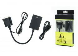 Конвертер VGA --> HDMI (кабель 15см)