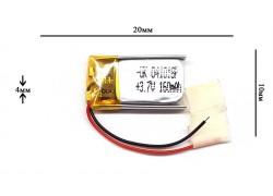 Аккумулятор универсальный 20x10x4 3.7V 150mAh (041018P)