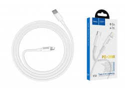 HOCO X56 New original PD charging data cable for Lightning 1м белый