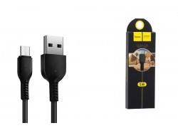 Кабель USB micro USB HOCO X20 Flash charging cable (черный) 1 метр