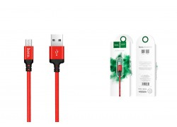 Кабель USB micro USB HOCO X14 Times speed charging cable (красный) 1 метр