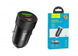 Автомобильное зарядное устройство Type-C HOCO Z32B Speed up PD20W+QC3.0 car charger черный
