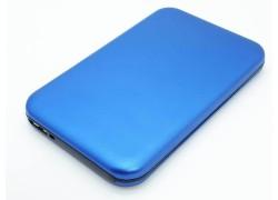 Кейс бокс для жесткого диска 2.5'' HDD003 металлический (синий)