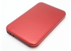 Кейс бокс для жесткого диска 2.5'' HDD003 металлический (красный)