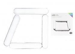 Кольцевая лампа напольная (20 см складная 4х секционная) V8 для фото и видеосъемки черная (без треноги)