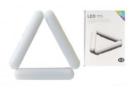 Кольцевая лампа напольная (20 см складная 3х секционная) V8 для фото и видеосъемки черная (без треноги)