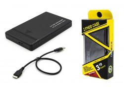 Кейс для жесткого диска 2.5'' HDD009 пластиковый (черный) быстросъемный