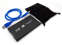Кейс для жесткого диска 2.5'' HDD010 металлический (черный)
