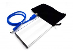Кейс для жесткого диска 2.5'' HDD010 металлический (серебро)