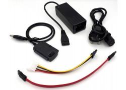 Адаптер USB Type-A (M) --> IDE (F) + SATA (F) + FLOPPY (F) (USB2.0)