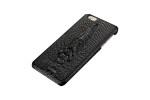 Чехол-накладка для Apple iPhone 6 Plus/6S Plus натуральная кожа голова крокодила Black