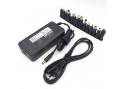 Универсальное зарядное устройство для ноутбука 120W + 14 переходников 2pin (ручной выбор напряжения)