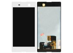 Дисплей для Sony Xperia M5 (E5603/ E5633) в сборе с тачскрином (белый)