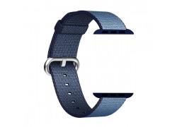 """Тканевый ремешок для Apple Watch 42-44 мм цвет синий """"Джинсы"""""""