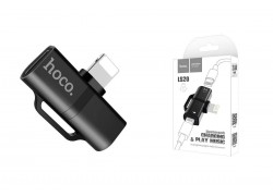 Адаптер-переходник HOCO LS20 Apple dual lightning digital audio converter